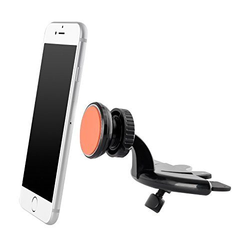 UPERGO Cell Phone Car Mount Holder, CD Slot Magnetic with Air Vent BaseLP-8S