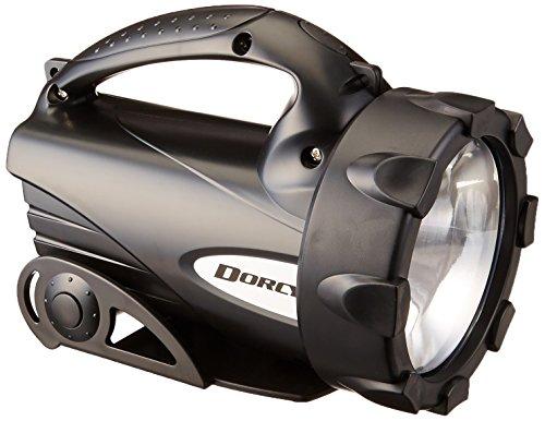 Dorcy 300-Lumen Weather Resistant LED Flashlight Lantern with Ratcheting Stand, Black 41-4291