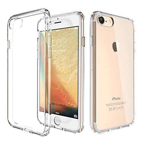 iPhone 8 Case, iPhone 7 Case, ATGOIN Utmost Hybrid Crystal Clear Flexible TPU Hybrid Protective Shock Absorbing Bumper Case with Clear Back Panel for Apple iPhone 7, iPhone 8 Clear