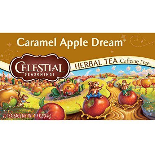 Celestial Seasonings Herbal Tea, Caramel Apple Dream, 20 Count, 1.7 Oz  Pack of 6