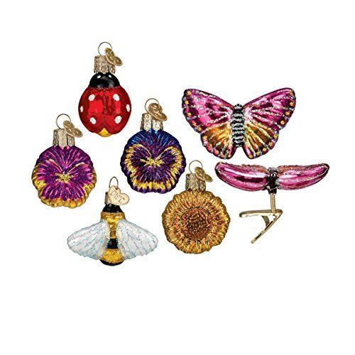 Old World Christmas Mini Garden Set Glass Blown Ornament