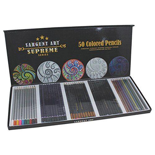 Sargent Art 22-7295 Supreme Art Pencil Set: Colored Pencils, Watercolor Pencils, Drawing Pencils, Charcoal Pencils, Metallic Pencils