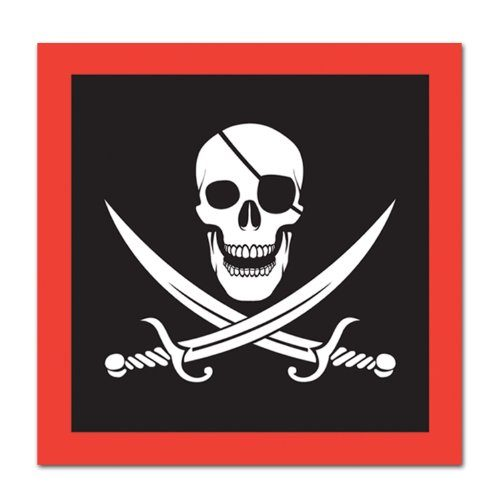 Pirate Luncheon Napkins 2-Ply    16/Pkg