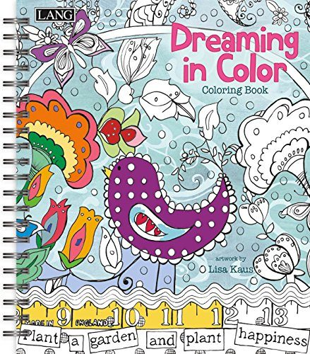 Lang Dreaming In Color Coloring Book by Lisa Kaus 1020102