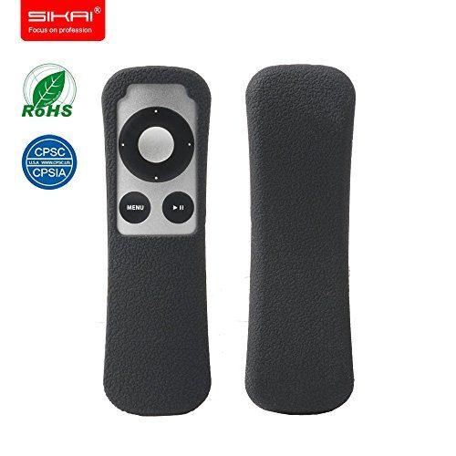 FBA SIKAI New Patent Apple TV 3Gen Remote case Non-Slip-Grip & Secure for Apple TV 3Gen Remote Ergonomic design Dustproof Silicone case for Apple TV remote control case Old Apple TV case Black