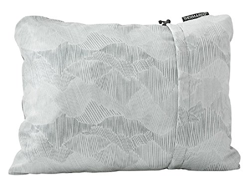 """Therm-a-Rest Compressible Travel Pillow for Camping, Backpacking, Airplanes and Road Trips, Gray, Small: 12"""" x 16"""""""