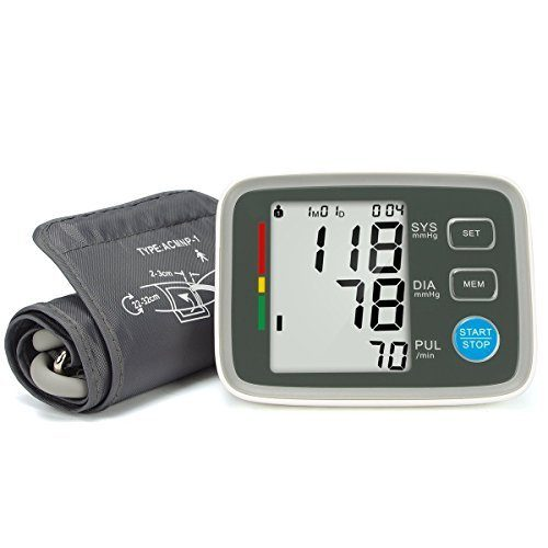 Fam-health Automatic Digital Upper Arm Blood Pressure Monitor Clinically Validated Sphygmomanometer FDA Approved white