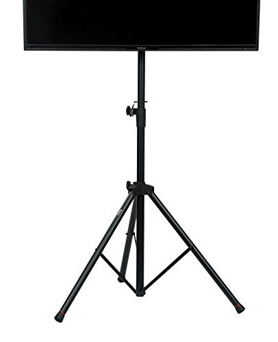 "Gator Cases GFW-AV-LCD-1 Gator Frameworks Standard Adjustable Tripod LCD/LED TV Monitor stand for Screens up to 48"", 1270/1854 mm, Black"
