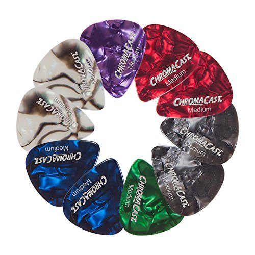 ChromaCast Pearl Celluloid Guitar Pick 10 Pack, Medium Gauge .73mm