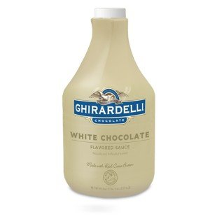 Ghirardelli White Chocolate Flavored Sauce | 89.4 fl oz. | Desserts & Ice Cream