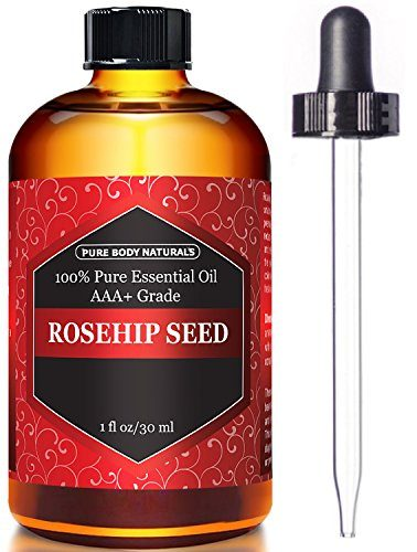 Rosehip Oil Facial Oil for Face, Nails, Hair and Skin, Rosehip Seed Oil by Pure Body Naturals, 1 Fl. Ounce