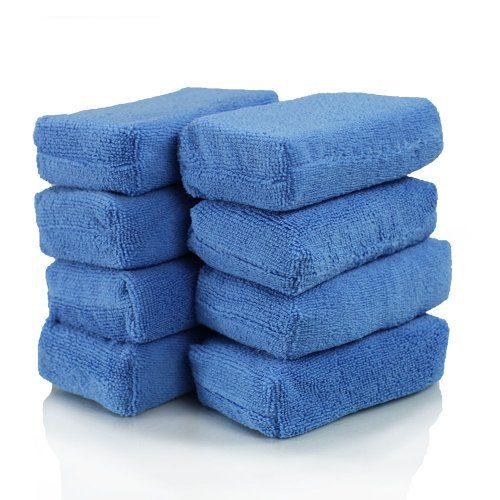 Chemical Guys MIC_292_08 Premium Grade Microfiber Applicators, Blue Pack of 8
