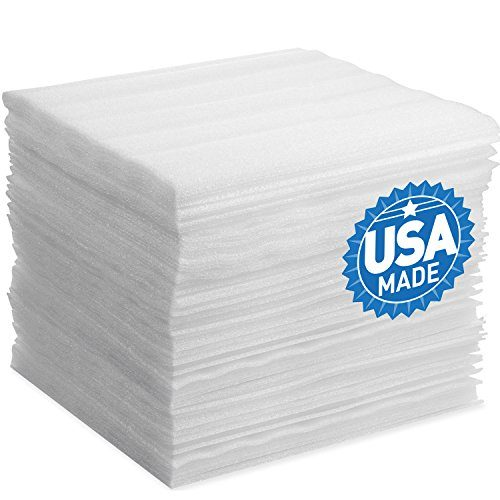 "Foam Wraps, DAT 12"" x 12"" Foam Wrap Sheets Cushioning for Moving Storage Packing and Shipping Supplies, 50-Pack White"