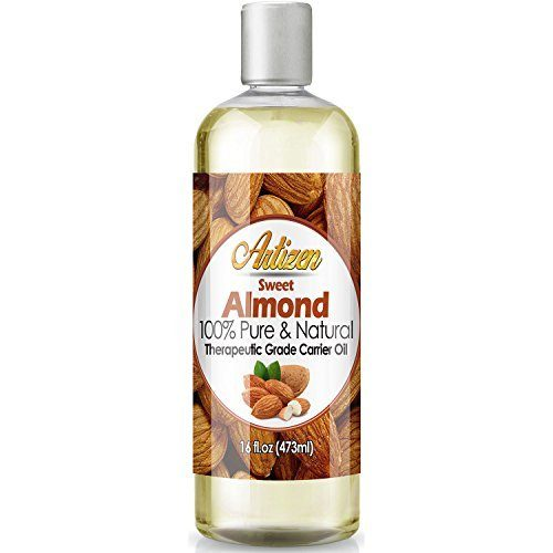 Perfect Carrier Oil for Diluting Essential Oils - 16oz Ounce Bottle 100% Pure & Natural - Artizen Sweet Almond Oil - Works Great as a Massage Oil, Aromatherapy, & More! - Cold Pressed