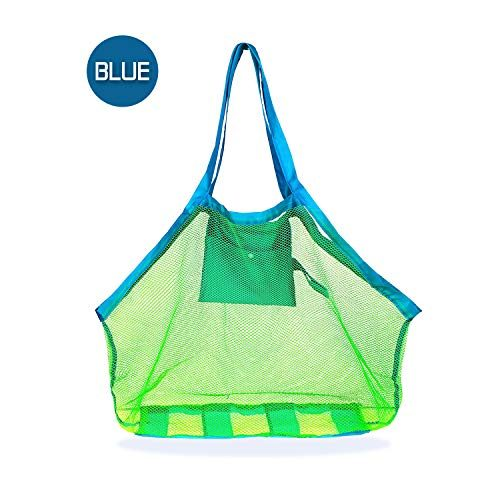 IBEET Beach Mesh Tote Bag, Beach Necessaries Children Toys Stay Away from Sand The Beach Pool Boat, Perfect Holding Toys Balls,Green