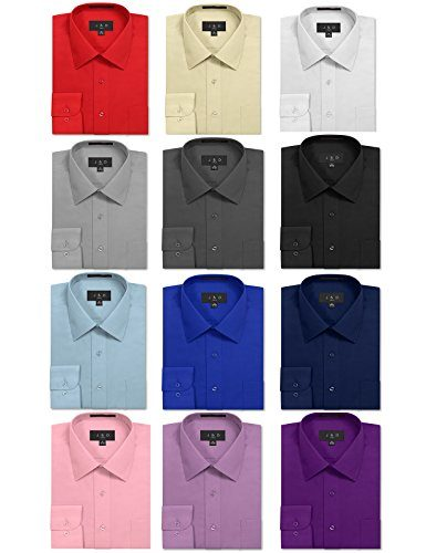 JD Apparel Men's Regular Fit Dress Shirts