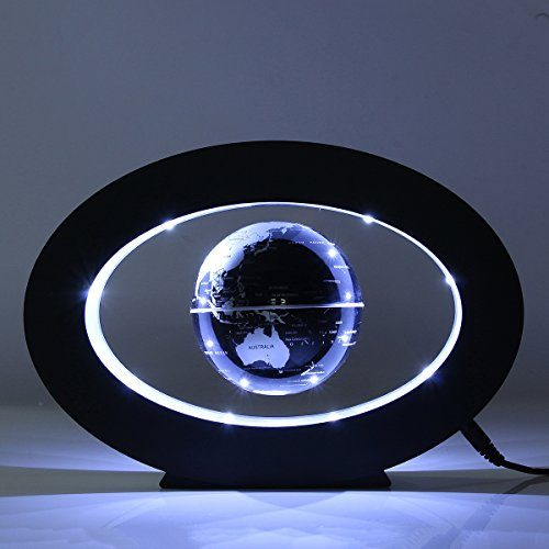 Caveen 3.5'' Magnetic Rotating Globe Anti-Gravity Floating Levitating Earth LED Display 360 Degree Rotating for Desktop Office Home Decor Kids Educational Home Decor