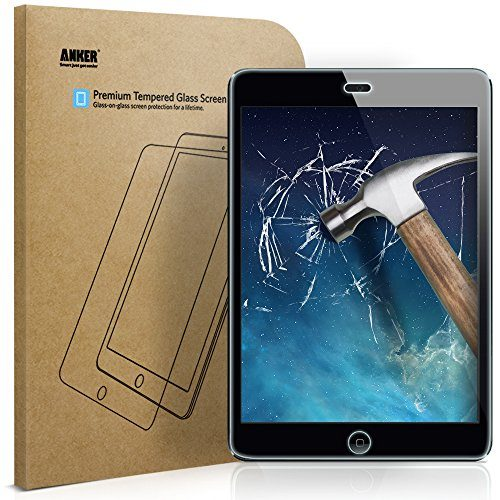 Anker iPad Mini / iPad Mini 2 / iPad Mini 3 Tempered Glass Screen Protector with Retina Display and Easy Installation Not Compatible with iPad Mini 4