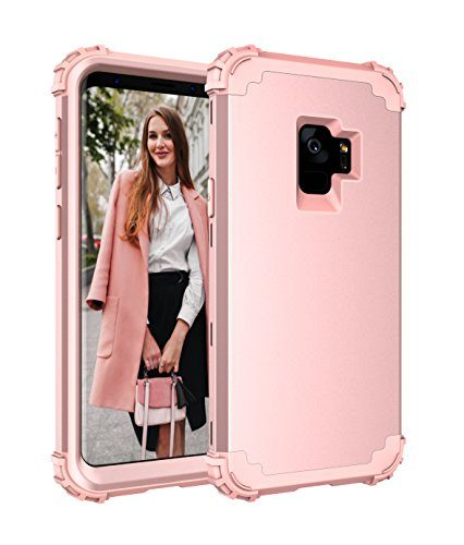 CASY MALL 3-Layer Heavy Duty Hybrid Full-Body Protect Case for Samsung Galaxy S9 2018 Release