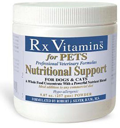 Nutrient-Filled Food Supplement Powder - Veterinarian Formulated - Rx Vitamins Nutritional Support for Dogs & Cats - 9.07 oz Powder