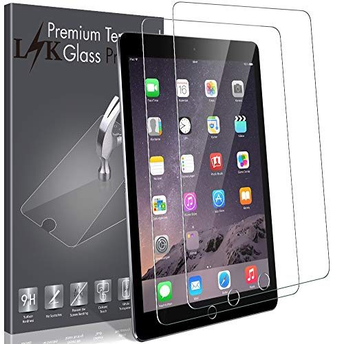 LK 2 Pack Screen Protector for iPad 2 / iPad 3 / iPad 4,Tempered Glass with Lifetime Replacement Warranty