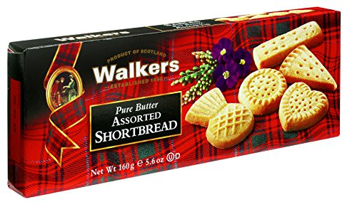 Walkers Shortbread Assorted Shortbread, Traditional Pure Butter Shortbread Cookies, 5.6-Ounce Boxes 4 Boxes