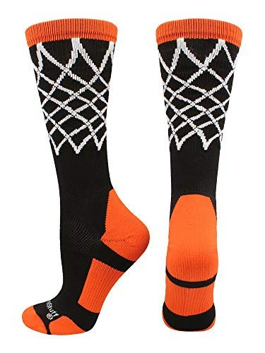 MadSportsStuff Elite Basketball Socks with Net Crew Length Multiple Colors