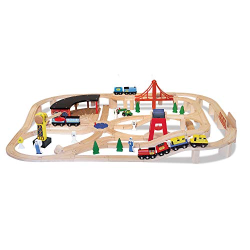 Top 10 Melissa and Doug Wooden Train Set - Toy Train Set Tracks