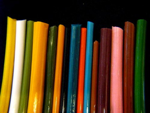 Devardi Glass Boro Rods, COE 33, Mixed Colors, 1 lb