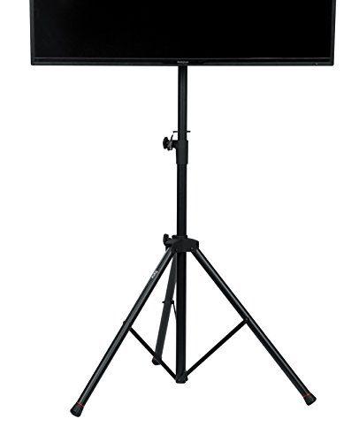 "Gator Cases GFW-AV-LCD-1 Gator Frameworks Standard Adjustable Tripod LCD/LED TV Monitor stand for Screens up to 48"", 1270/1854 mm, Black"