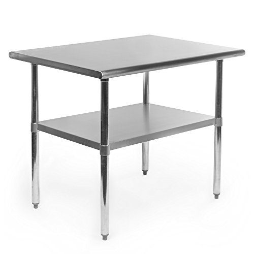 36 in. x 24 in. - GRIDMANN NSF Stainless Steel Commercial Kitchen Prep & Work Table