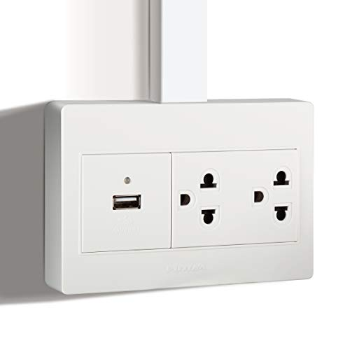 Futina Surface Mount Electrical Outlet Box High Speed Usb