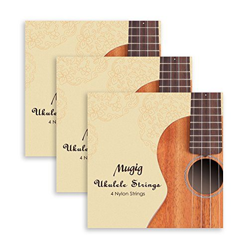 Cream White - Mugig Ukulele Strings, Soprano Ukulele Strings, Nylon Ukulele Strings Set, 3 Sets of 12