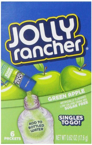 Jolly Rancher Singles to Go Water Drink Mix, Green Apple Flavored Powder Sticks, 12 Boxes with 6 Packets Each – 72 Total Servings