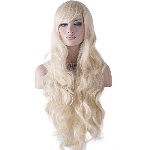 """DAOTS 32"""" Cosplay Wigs Long Wig Hair Heat Resistant Curly Wave Hairs for Women"""