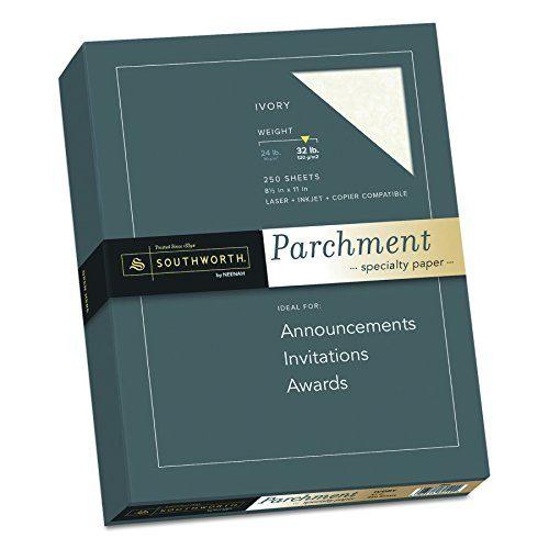 Southworth Parchment Paper, 8-1/2 x 11 Inches, 250 Per Box, Ivory SOUJ988C