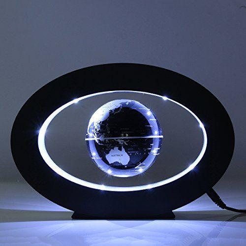 Caveen 3.5'' Magnetic Rotating Globe Anti-Gravity Floating Levitating Earth LED Display 360 Degree Rotating for Desktop Office Home Decor Kids Educational Home Decor