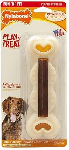 Nylabone Powerful Chewers Fun 'N Fit Treat Toy Bone Original w/ Edible Treat