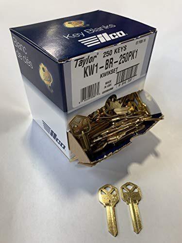 Kaba Ilco KW1-BR-250PK Blank Kwikset Key 250 Pack