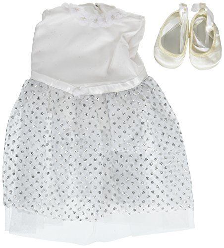 """White Ballerina Dress & Ballet Slippers ~ Fits 18"""" American Girl Dolls"""